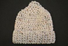 Newborn neutral crocheted hat on Etsy, $16.00
