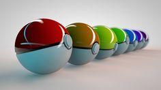 ポケモン | Pokeballs in every color!