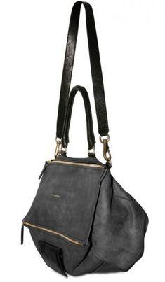 Givenchy pandora black leather handbag.