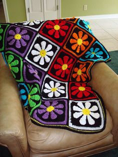 Daisy Afghan by southardtl, via Flickr