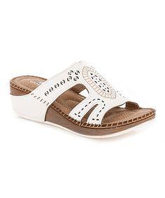 Look at this #zulilyfind! White Embossed Sandal #zulilyfinds