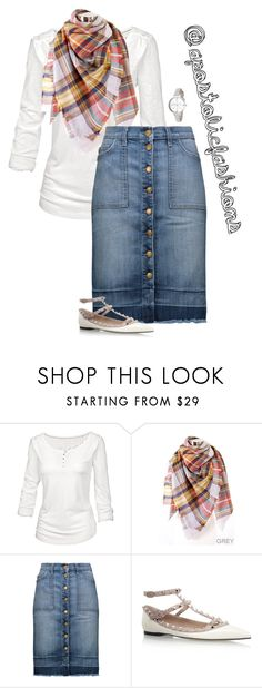 """Apostolic Fashions #1689"" by apostolicfashions ❤ liked on Polyvore featuring Fat Face, Current/Elliott, Valentino and Kate Spade"