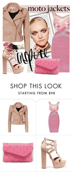 """Inspire...."" by tinuviela ❤ liked on Polyvore featuring Chanel, IRO, HOBO, Aquazzura and motojackets"
