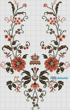 Cross Stitch Borders, Cross Stitch Alphabet, Cross Stitch Flowers, Cross Stitch Designs, Cross Stitching, Cross Stitch Embroidery, Cross Stitch Patterns, Towel Embroidery, Embroidery Patterns