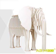 abm idea elephant puzzle table bookrack l11m diy animal multi