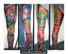 Avengers Sleeve Tattoos 05