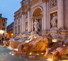 Trevi Fountain. (Near our hotel)