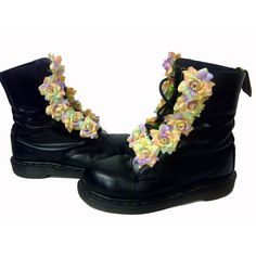 Custom Vintage Floral Doc Martens  I should customize my SWAT team boots like this for fun.