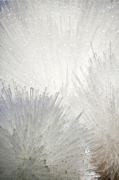 Tara Donovan - beautiful installation. Looks like the inside of a dandelion.... #allwhiteeverything