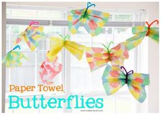 OT Activity of the Week: Paper Towel Butterflies! - Pinned by @PediaStaff – Please Visit  ht.ly/63sNt for all our pediatric therapy pins