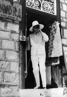 Greta Garbo, pendant ses vacances en Grèce