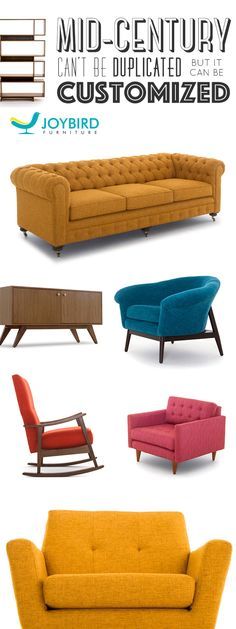 Why be generic when you can stand out with Mid Century Modern furniture from Joybird? SAVE 20% on sofas, chairs, and sectionals right now during our Sit-in-Style Sale! All Joybird furniture comes with a 365-day home trial & lifetime warranty!