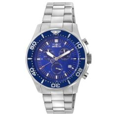 Invicta Men's 5364 Pro Diver Chronograph Watch Invicta. $299.99. Precise Swiss-Quartz movement. Stainless-steel case; Blue dial; Unidirectional bezel; Date function; Chronograph functions. Water-resistant to 330 feet (100 M). Sapphire-coated-mineral crystal. Case diameter: 42 mm. Save 39%!