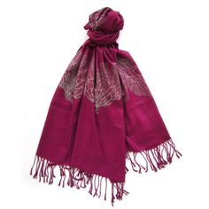 Seafan Heart Scarf in Magenta by Snoozer Loser