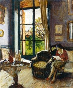'Interior with the Artist's Wife' by Albert André.