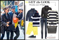 Mama Kind Partnerlook mit Miranda Kerr und Söhnchen Flynn beim Ausflug mit Orlando Bloom. #fashion #sailor #stripedshirt #mommy #kid