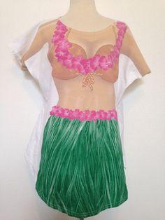 Bikini Hawaii T Shirt Top Fantasies LA Imprints Hawaiian Women's Fun Hawaiian Wear, Cool Style, Cover Up, Two Piece Skirt Set, Boat, Crop Tops, Suits, Best Deals, Womens Fashion