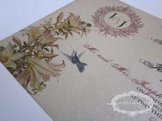 Vintage Wedding Invitation - Whimsical French Baroque Maria Collection
