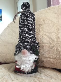 Christmas gnome made from socks and rice
