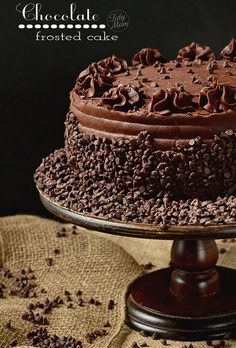 Dark Chocolate Frosted Yellow Cake with Raspberry Preserves | TidyMom