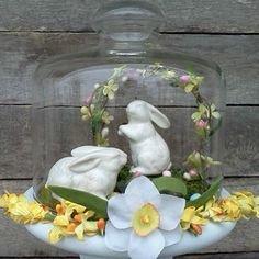 Easter Cloche-easter decor inspiration