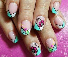 Shellac Nail Designs, Shellac Nails, Toe Nail Designs, Toe Nails, Acrylic Nails, Spring Nails, Summer Nails, Diva Nails, French Tip Nails