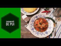 Saramura de pui cu rosii si ardei, reteta gustoasa. Cum pregatim Saramura de pui cu rosii si ardei. Concurs- Ferma Vranceana Romanian Food, Chicken, Meat, Cubs