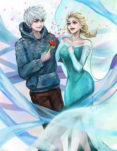 Jack Frost x Elsa (Valentine's Day) by SimhaART on DeviantArt