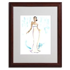Night in White Satin by Jennifer Lilya Matted Framed Painting Print