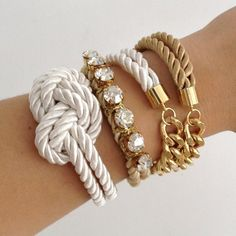 chain & knot silk bracelets. nautical and classy.