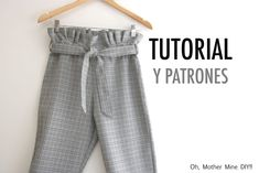 Aprender a coser pantalones papier-sac para mujer patrones gratuit oh. Free Printable Sewing Patterns, Free Sewing, Easy Sewing Projects, Sewing Tutorials, Diy For Men, Learn To Sew, Clothing Patterns, Free Pattern, Couture