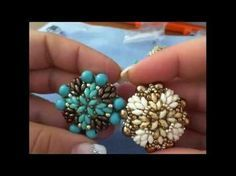 DIY tutorial anello Venere - superduo e perle - ring