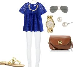 """Eyelet"" by southern-prep ❤ liked on Polyvore"