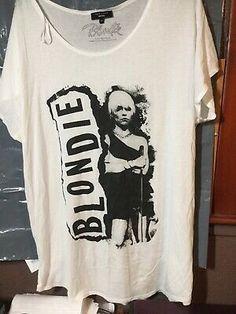 T-shirt Ladies Fade Away Rock Black Blondie Sizes S,M,L,XL