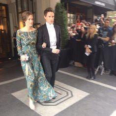 Met Gala 2014: Eddie Redmayne and Hannah Bagshawe