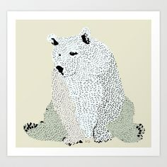 bear grizzly  Art Print by bri.buckley - $19.00