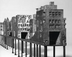 Bridge of Houses, New York City, NY proposal (1979) by Steven Holl (EV 1982)   Image © Steven Holl Architects