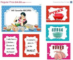 ON SALE spring time RETRO recipe booklet  by RetroSassDesigns