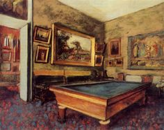 Billiard Room at Menil Hubert-1892, Edgar Degas.