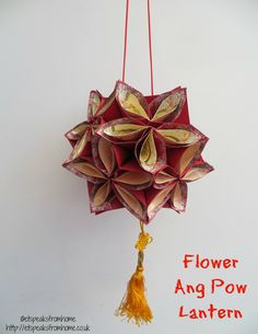 chinese new year flower ang pow lantern