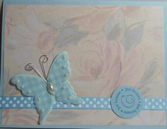 Same   background paper as the following card, but quite different looking...