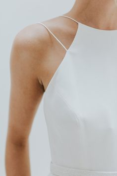 Elegant & Minimal Bridal Gowns by Charlotte Simpson...neck line