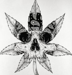 ThisnThat – Graffiti World Trippy Drawings, Tattoo Design Drawings, Skull Tattoo Design, Art Drawings, Weed Tattoo, Marijuana Art, Evil Skull Tattoo, Skull Tattoos, Tattoo Sketches