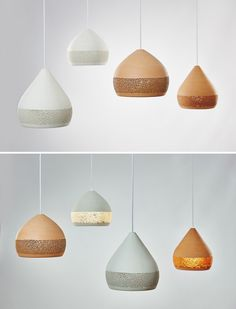 Spanish designer Miguel Angel Garcia Belmonte of design company POTT has created SpongeOh!, a collection of lights made from ceramic.