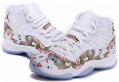 "finest selection 0a17f b6494 Buy Girls Air Jordan 11 GS Custom ""Floral Flower"" White Brown Cheap On Sale  from Reliable Girls Air Jordan 11 GS Custom ""Floral Flower"" White Brown  Cheap On ..."