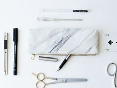 A Marbled Pencil Pouch | Community Post: 36 Gifts Guaranteed To Satisfy Your Marble Addiction