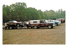 Vintage Drag Race Car Hauler   This is the way we did it for years     Vintage Drag Racing   Tasca Ford