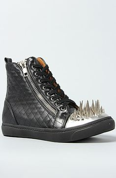 Jeffrey Campbell The Adams Sneaker in Black Quilt and Silver Spikes    Karmaloop.com - 3173476dc