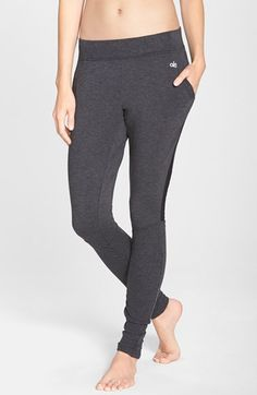 Alo 'Yen' Mesh Inset Ribbed Sweatpants available at #Nordstrom