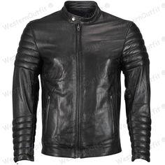 New Men's Genuine Lambskin Leather Jacket Slim fit Biker Motorcycle jacket OR 42 #Handmade #Motorcycle